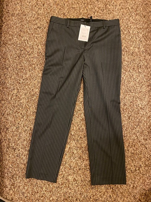 Theory Straight Pants Grey and Black Stripes Image 3