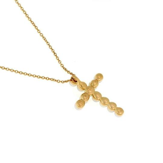 Tiffany & Co. Pearls 18k Yellow Gold Cross Pendant & Chain Image 3