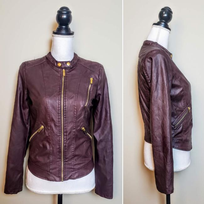 Charlotte Russe Zipper Moto Faux Leather Motorcycle Jacket Image 1