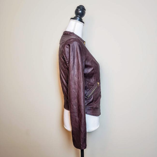 Charlotte Russe Zipper Moto Faux Leather Motorcycle Jacket Image 2