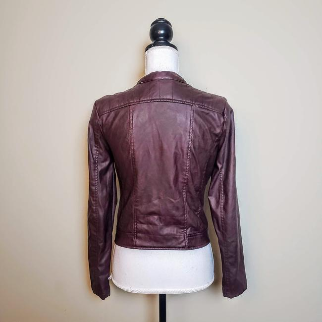 Charlotte Russe Zipper Moto Faux Leather Motorcycle Jacket Image 3