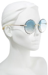 Chloé Women's Blue Rosie Scalloped Sunglasses
