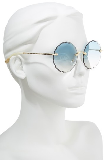 Preload https://img-static.tradesy.com/item/26389560/chloe-blue-women-s-rosie-scalloped-sunglasses-0-2-540-540.jpg