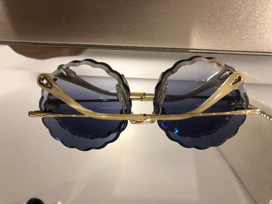 Chloé Women's Blue Rosie Scalloped Sunglasses Image 2