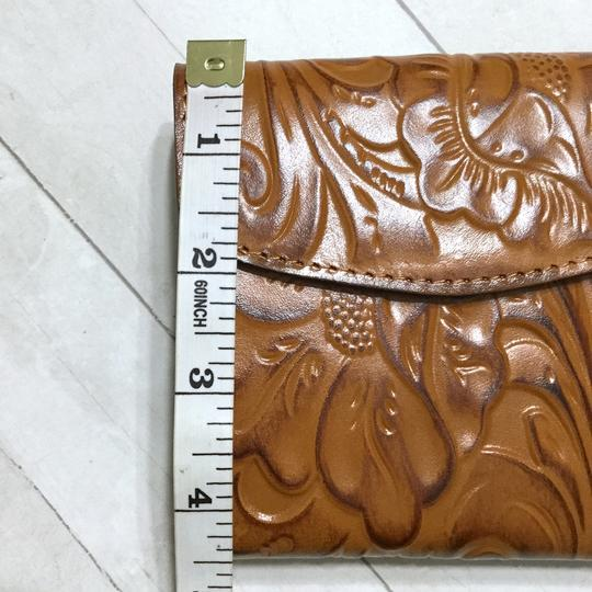 Patricia Nash Designs Italian Leather Reiti Embossed Floral Organizer RFID Bifold Flap Image 7