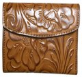 Patricia Nash Designs Italian Leather Reiti Embossed Floral Organizer RFID Bifold Flap Image 0