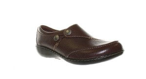 Clarks Leather T Strap Mary Jane Onm002 Un Structured Redwood Flats
