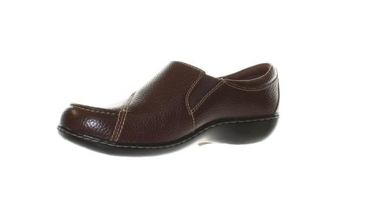 Clarks Leather T Strap Mary Jane Onm002 Un Structured Redwood Flats Image 1