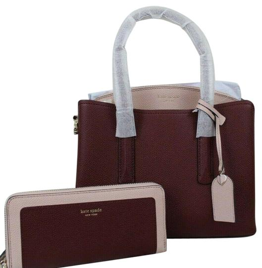 Preload https://img-static.tradesy.com/item/26389625/kate-spade-wallet-margaux-medium-cherrywood-multigold-leather-satchel-0-6-540-540.jpg