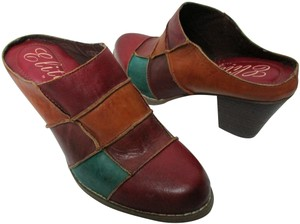 Corkys Leatherclogs Leatherpatchwork Bohoclogs Leatherboho multi-color Mules