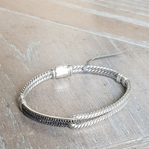 David Yurman David Yurman Labyrinth Black Diamond Loop Bracelet