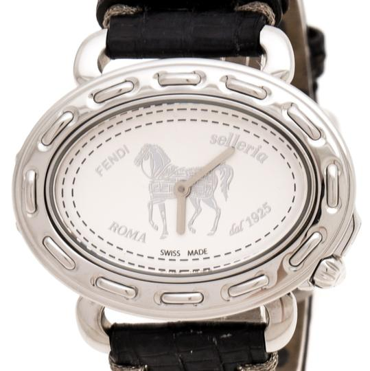 Fendi Silver White Stainless Steel Selleria 8300M Women's Wristwatch 40 mm Image 2