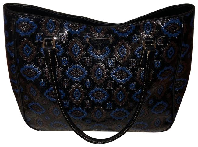 Item - *extremely Rare* Vintage Tooled Blue Patent Leather Tote