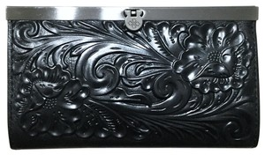 Patricia Nash Designs Italian Leather Cauchy Embossed Floral Framed Organizer RFID Wallet