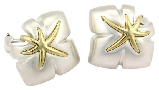 Preload https://img-static.tradesy.com/item/26389696/tiffany-and-co-61464-ivy-1991-classic-925-sterling-18k-ygold-starfish-leaf-clip-on-earrings-0-2-540-540.jpg
