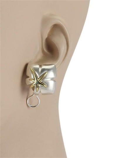 Tiffany & Co. Ivy 1991 Classic 925 Sterling 18k YGold Starfish Leaf Clip On Earrings Image 1