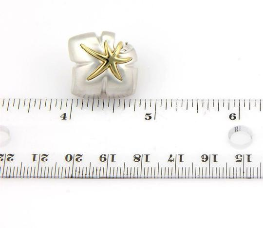 Tiffany & Co. Ivy 1991 Classic 925 Sterling 18k YGold Starfish Leaf Clip On Earrings Image 3
