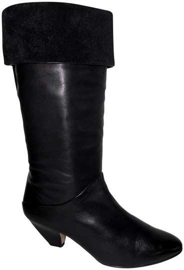Preload https://img-static.tradesy.com/item/26389704/black-leather-low-heel-uniquely-styled-bootsbooties-size-us-95-regular-m-b-0-3-540-540.jpg