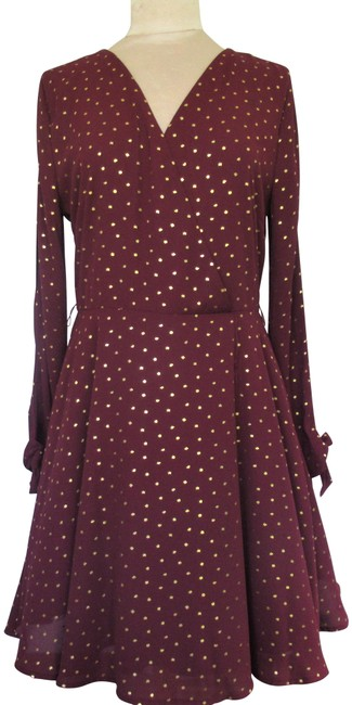 Preload https://img-static.tradesy.com/item/26389796/laundry-by-shelli-segal-red-and-gold-fit-flare-metallic-star-mid-length-night-out-dress-size-14-l-0-2-650-650.jpg