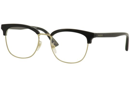 Gucci Gucci Men's Eyeglasses Web GG0409OK GG/0409/OK 001 Black Optical Frame Image 0