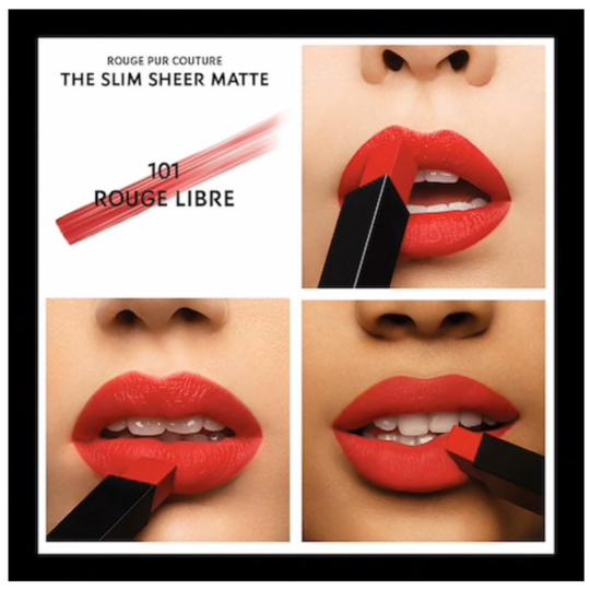 Yves Saint Laurent YSL Rouge Pur Couture The Slim Sheer Matte Lipstick Image 2