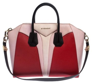 Givenchy Leather Canvas Satchel in Multicolor
