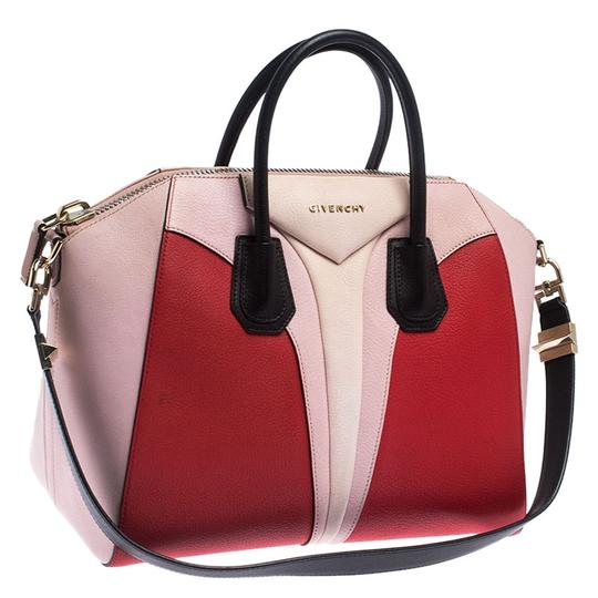Givenchy Leather Canvas Satchel in Multicolor Image 4