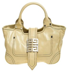 Givenchy Leather Front Flap Logo Tote in Yellow