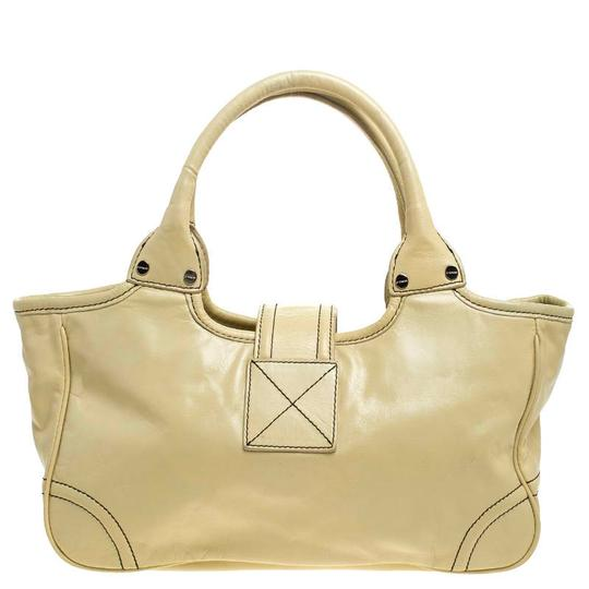 Givenchy Leather Front Flap Logo Tote in Yellow Image 1