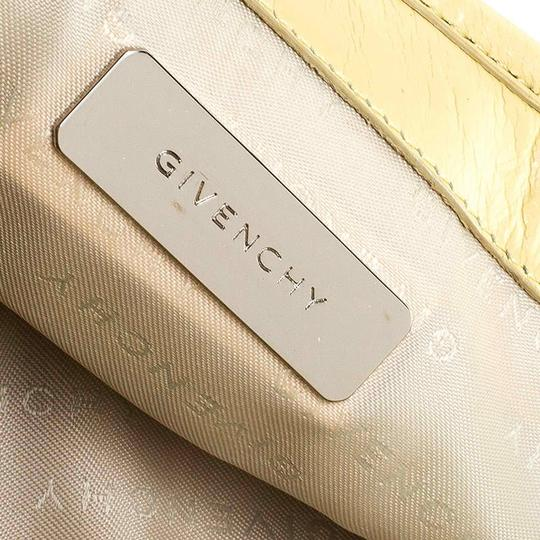 Givenchy Leather Front Flap Logo Tote in Yellow Image 10