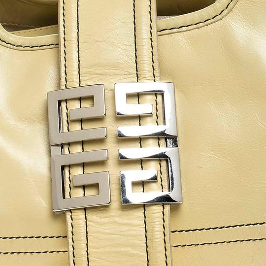 Givenchy Leather Front Flap Logo Tote in Yellow Image 7
