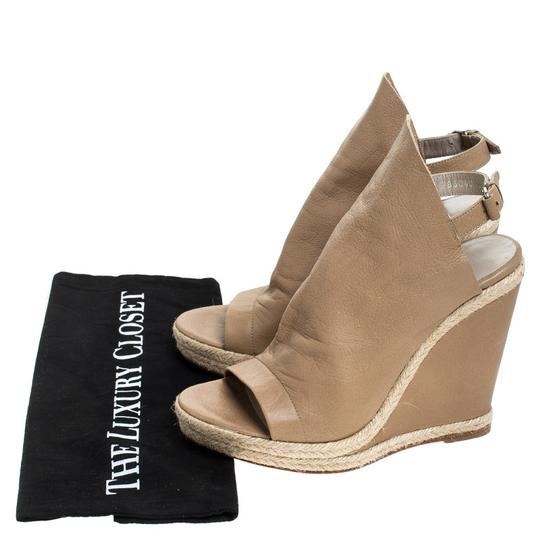 Balenciaga Leather Platform Beige Sandals Image 7