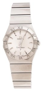Omega Silver Stainless Constellation 123.10.27.60.02.001 Wristwatch 27 mm