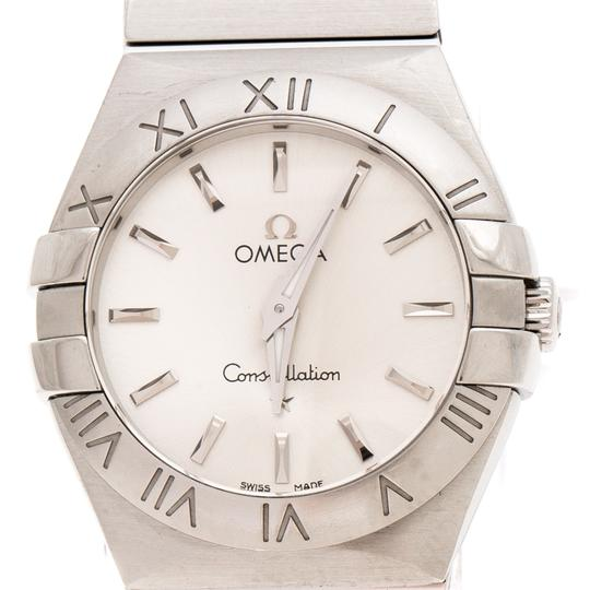 Omega Silver Stainless Constellation 123.10.27.60.02.001 Wristwatch 27 mm Image 2