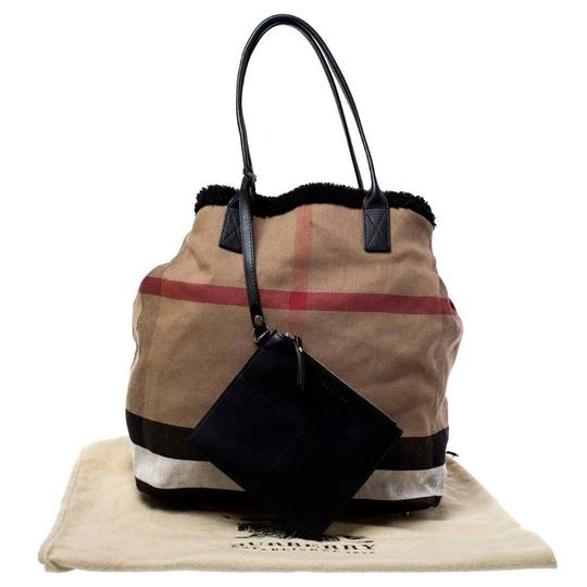 Burberry Canvas Leather Tote in Beige Image 10