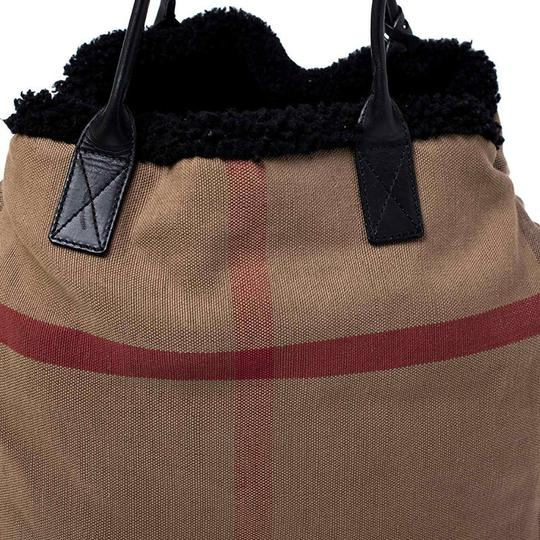 Burberry Canvas Leather Tote in Beige Image 5