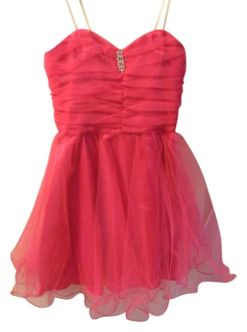 Item - Neon Pink Homecoming Prom Above Knee Night Out Dress Size 10 (M)