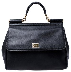 Dolce&Gabbana Leather Fabric Shoulder Bag