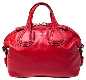 Givenchy Leather Fabric Satchel in Red