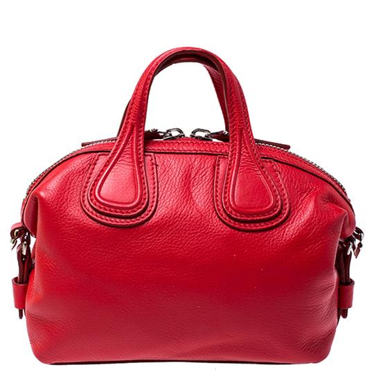 Givenchy Leather Fabric Satchel in Red Image 1