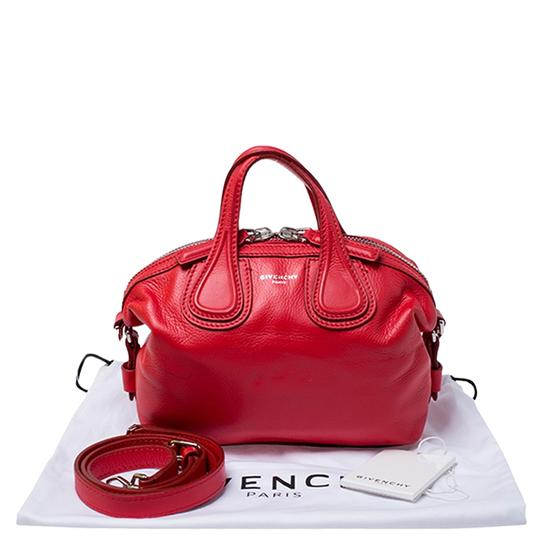 Givenchy Leather Fabric Satchel in Red Image 11
