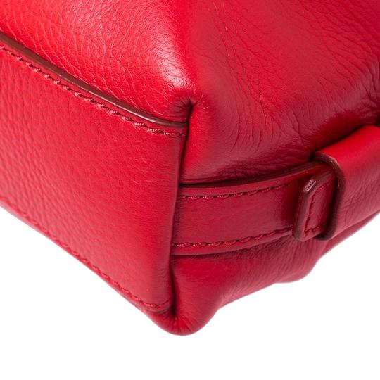 Givenchy Leather Fabric Satchel in Red Image 4