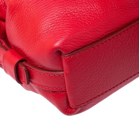 Givenchy Leather Fabric Satchel in Red Image 5