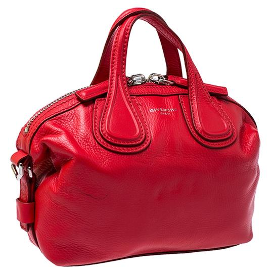 Givenchy Leather Fabric Satchel in Red Image 6