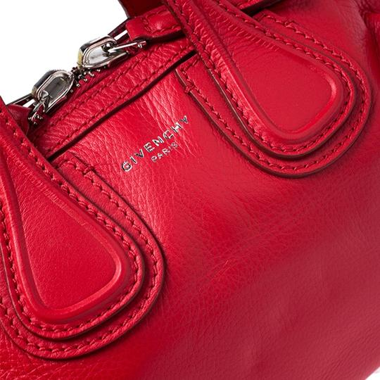 Givenchy Leather Fabric Satchel in Red Image 7