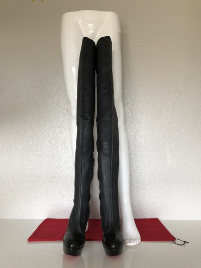 Christian Louboutin Thigh High Over The Knee Black Boots Image 2