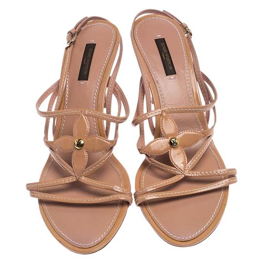 Louis Vuitton Leather Patent Leather Strappy Beige Sandals Image 1