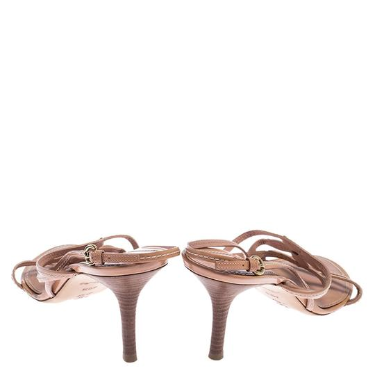 Louis Vuitton Leather Patent Leather Strappy Beige Sandals Image 2