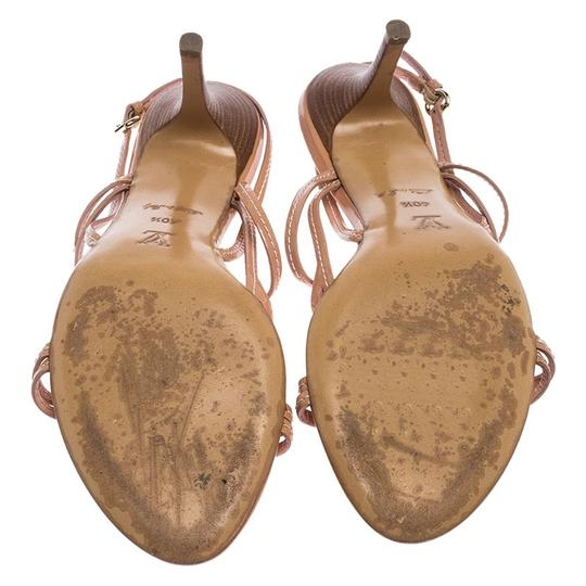 Louis Vuitton Leather Patent Leather Strappy Beige Sandals Image 4