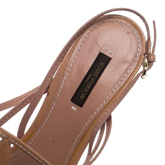 Louis Vuitton Leather Patent Leather Strappy Beige Sandals Image 5